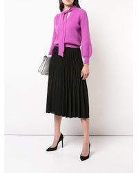 Co. - Pink Neck-tied Fitted Sweater - Lyst