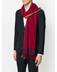 Paul Smith | Red Frayed Scarf for Men | Lyst