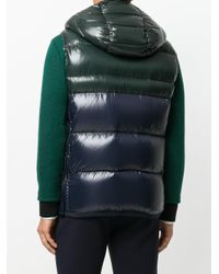 Moncler - Green Padded Hooded Gilet for Men - Lyst