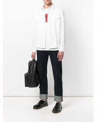 Neil Barrett White Elasticated Hem Shirt for men