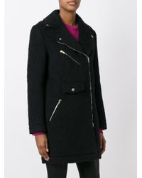 Jeremy Scott - Black Off-centre Zipped Coat - Lyst