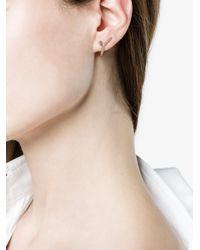 Yvonne Léon - Metallic 18k Gold And Amethyst Line Earring - Lyst