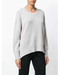 Allude - Multicolor Round Neck Jumper - Lyst