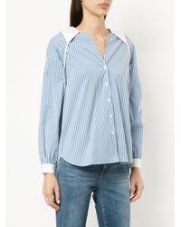 Sandy Liang - Blue Toto Striped Shirt - Lyst