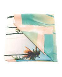 Brigitte Bardot - Green Palm Tree Print Cover-up - Lyst