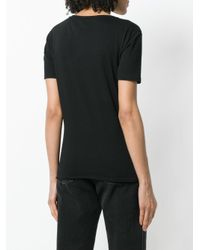 Alexander McQueen - Black Logo Embellished T-shirt - Lyst