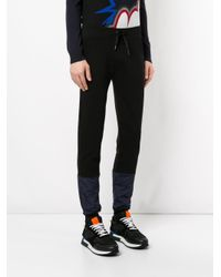 Iceberg - Black Embroidered Logo Track Pants for Men - Lyst