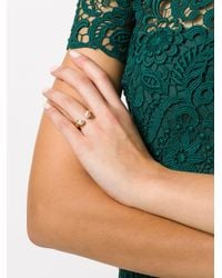 Chloé - Metallic Open Faux Pearl Ring - Lyst