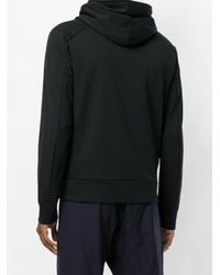 Attachment - Black Panelled Zip Up Hoodie for Men - Lyst