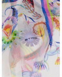 Etro - White Multi-print Scarf - Lyst