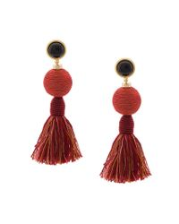 Lizzie Fortunato - Red Tassel Drop Earrings - Lyst