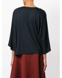 Chalayan - Blue Twisted Neckline Blouse - Lyst