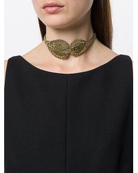 Rada' - Metallic Choker Decorato - Lyst
