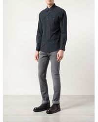 RRL - Black Western Shirt for Men - Lyst
