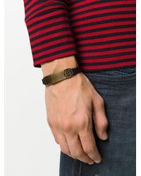 DIESEL - Black Metal Detail Bracelet for Men - Lyst