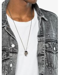 Alexander McQueen | Metallic Skull Necklace for Men | Lyst