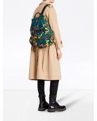 Burberry - Green Large Rucksack In Splash Print - Lyst