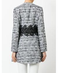 Moncler Gamme Rouge - Black Zipped Tweed Coat - Lyst