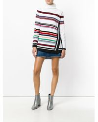 Iceberg - White Striped Knitted Sweater - Lyst