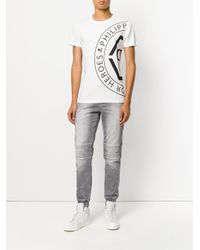 Philipp Plein - White Branded T-shirt for Men - Lyst