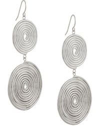 Petite Grand - Metallic Double Espiral Earrings - Lyst