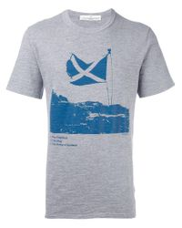 Golden Goose Deluxe Brand - Gray Scottish Flag Print T-shirt for Men - Lyst