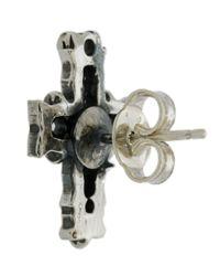 Emanuele Bicocchi - Metallic Cross Earring - Lyst