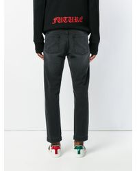Gucci - Blue Cropped Straight-leg Jeans for Men - Lyst
