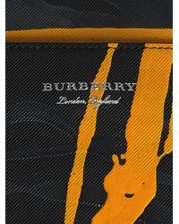 Burberry - Black Splatter Print Document Case for Men - Lyst