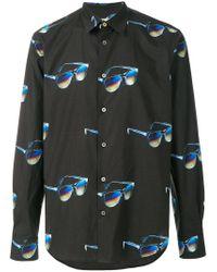 Paul Smith - Black Sunglasses Print Shirt for Men - Lyst