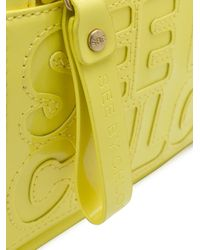 See By Chloé - Yellow Logo Embossed Satchel Bag - Lyst