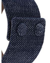 Givenchy - Blue Stars Sleeve Denim Bracelet - Lyst