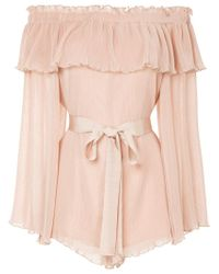 1e7b488bbe Alice McCALL Grand Amour Playsuit in Natural - Lyst