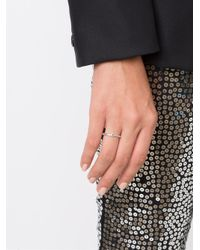 Henson - Metallic Fine Ring With Gemstone - Lyst