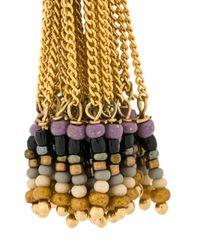Gas Bijoux - Metallic Beaded Tassel Earrings - Lyst