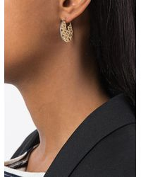 Noor Fares - Metallic Flower Of Life Chandbali Earrings - Lyst