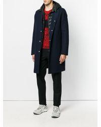 Moncler - Blue Senega Coat for Men - Lyst