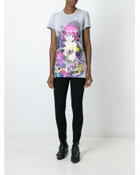 DSquared² - Gray Graffiti Print Cartoon T-shirt - Lyst