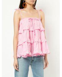 Innika Choo - Pink Ruffled Blouse - Lyst