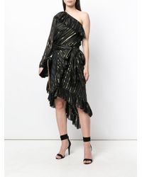 Philosophy Di Lorenzo Serafini - Black Asymmetric Flared Dress - Lyst