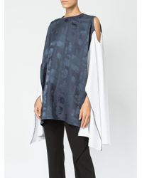 Koche Blue Off-shoulder Blouse