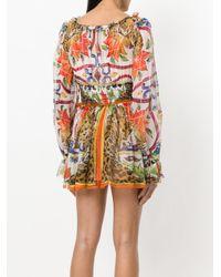 Dolce & Gabbana - Multicolor Majolica Print Dress - Lyst