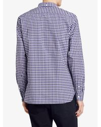 Burberry - Blue Gingham Shirt for Men - Lyst