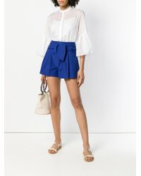 Genny - White Ruffled Sleeve Blouse - Lyst
