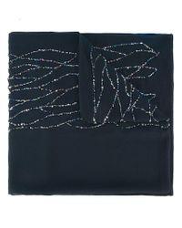 Armani | Blue Embellished Scarf | Lyst