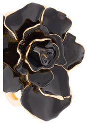 Oscar de la Renta - Black Rosette Bracelet - Lyst