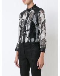 Yigal Azrouël - Black Leopard Embroidery Jacket - Lyst
