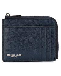 Michael Kors - Blue Zip Around Wallet for Men - Lyst