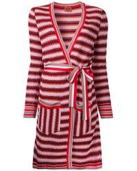 Missoni   Red Zig-zag Belted Cardi-coat   Lyst
