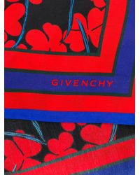 Givenchy - Red Floral Print Scarf - Lyst